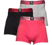 Crosshatch Herren RGB Teaberry Boxershorts in lose Passform Mehrfarbig