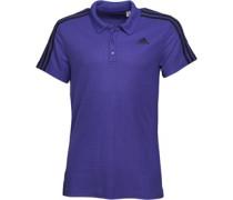 Herren Essentials 3 Stripe ClimaLite Polohemd Lila