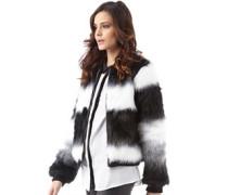 Damen Charter Fur Harrington Jacke Schwarz