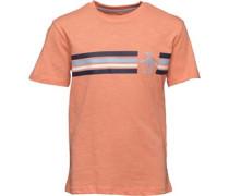 Jungen Stripe Slub T-Shirt Orangemeliert