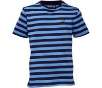 Lyle And Scott Junior Micro Stripe T-Shirt Deep Indigo