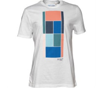Original Penguin Herren Court Block T-Shirt Weiß