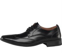 Herren Chisel Brogue Schuhe Black
