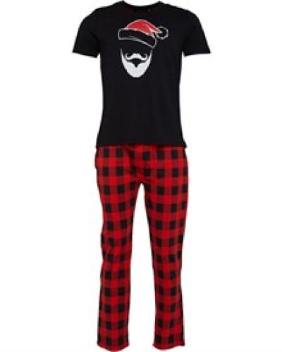 Beard Loungewear-Set Schwarz/Rot