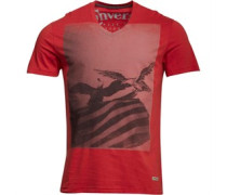 Herren Flag Eagle Graphic T-Shirt Rot