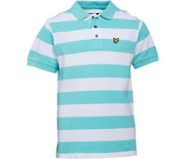 Boys Block Stripe Polo Spring Green