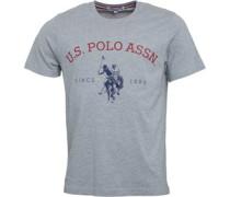 Herren Ranch T-Shirt Graumeliert