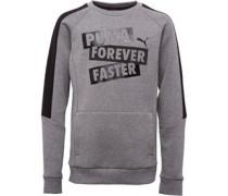 Jungen Graphic Logo Sweatshirt Grau
