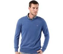 Herren Williams River Pullover mit V-Ausschnitt Blau