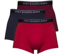 Herren 3 Packung Boxershorts in lose Passform Navy/Navy Stripe/Red