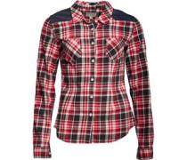 Womens Trilla Pocket Slim Fit Checked Short Sleeve Shirt Barberry Multi