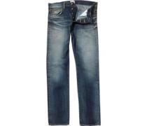 Edwin Herren ED-71 Listed Selvage Regular Oiler Wash Jeans in Slim Passform Blau