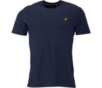 Herren Brushed Meliert T-Shirt Navymeliert