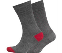 Peter Werth Herren Pattern Socken Grau