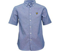 Boys Blocked Chambray Shirt Chambray