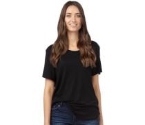Brave Soul Womens Scoop Neck T-Shirt Black