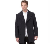 French Connection Herren Deans Double Breasted Jacket Grau