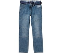 Henleys Herren With wash Jeans in regulär Passform Denim