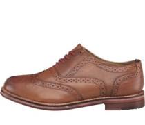 Ben Sherman Mens Oxford Brogue Shoes Tan