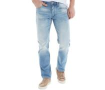 Herren Mike Original GE452 Jeans mit geradem Bein Hellblau