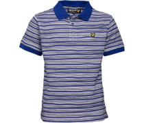 Lyle And Scott Boys Hand Drawn Stripe Printed Polo Duke Blue