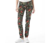 Damen Fashion Jeans mit geradem Bein Mehrfarbig