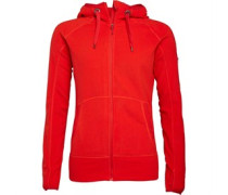 Berghaus Wommens Verdon Full Zip Hooded Fleece Jacket Red/Red