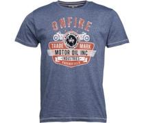 Onfire Herren Grindle Motor Oil T-Shirt Blau
