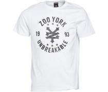 Zoo York Herren Arto Heritage Logo T-Shirt Weiß