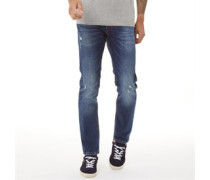 Glenn Original AM 918 STS Jeans in Slim Passform Verblasstes Mittel