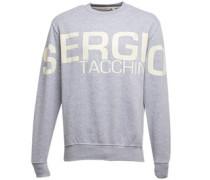 Sergio Tacchini Herren Marzano Logo Crew Neck Sweatshirt Grau