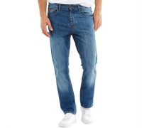 Herren Basicon Jeans mit geradem Bein Mittelblau