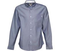 Timberland Herren Mystic River Oxford Hemd Mit Langem Arm Blaumeliert