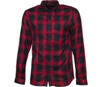 Mens Leapard Shirt Red/Navy Check