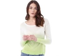 Damen Sarasota Dip Dye Pullover mit Rundhalsausschnitt Grün