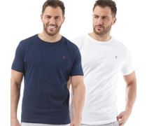 Herren Dornoch Zwei Pack Lounge T-Shirt Navy