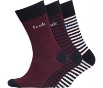French Connection Herren Bordeaux Socken Blau