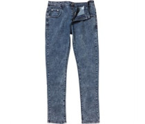 Brave Soul Mens Fullerton Slim Fit Jeans Dark Blue Acid Wash