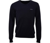 HACKETT Mens V Neck Brushed Cotton Sweater Black