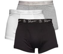 Herren Boxershorts Mehrfarbig/Schwarz/Weiß/Graumeliert