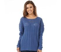 Onfire Damen Pullover mit Rundhalsausschnitt Blau
