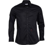 Moschino Herren Hemd mit langem Arm Schwarz