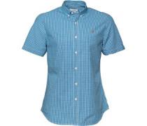 Farah Vintage Herren Argyle Slim Sierra Hemd mit kurzem Arm Kariert