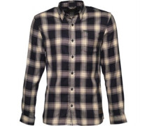 Mens Leapard Shirt Navy/White Check