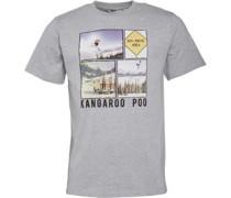 Kangaroo Poo Herren Winter Sports T-Shirt Grey Marl