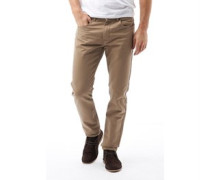 Feraud Mens Cotton Twill Reg Slim Fit Jeans Beige