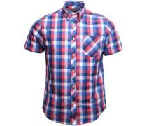Geprüft Hemd mit kurzem Arm Königsblau