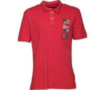 Herren Eastham Flags Pique Polohemd Rot