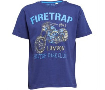 Firetrap Junior Motorcycle T-Shirt Medieval Blue