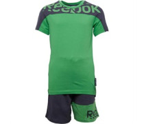 Reebok Junior Short Sleeve Set Green